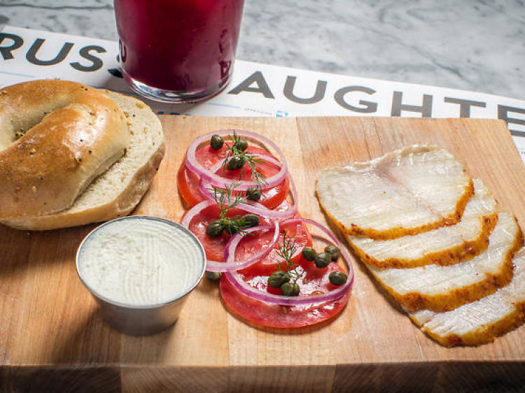 Order some bagel and lox at Russ & Daughters