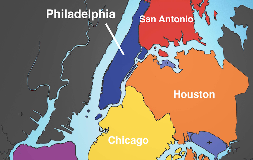 These maps show just how big NYC is compared to other cities