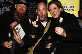 The Palace Hotel celebrates winning Best Sports Pub at the Time Out Melbourne Pub Awards 2015