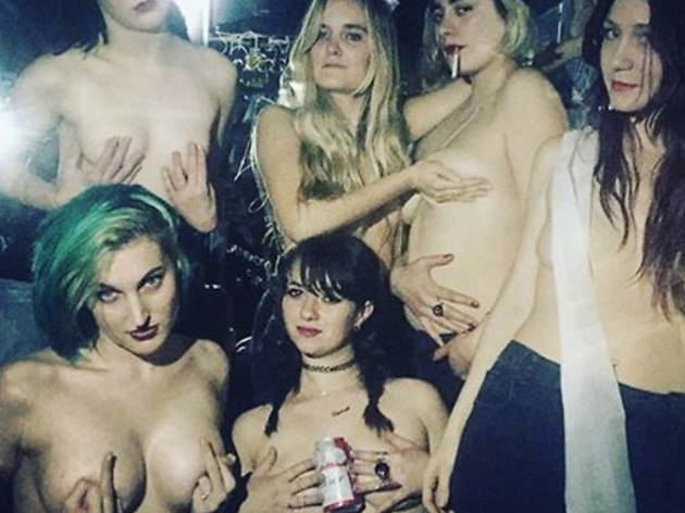 """Boobs of Bushwick #FreetheNipple with """"titty pub crawls"""""""