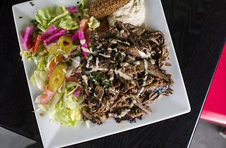 Shawarma platter at King of Falafel