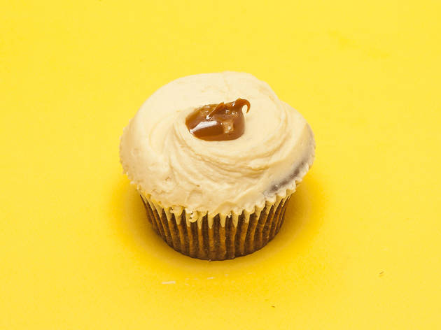 Salted Caramel Cupcake at Hummingbird Bakery
