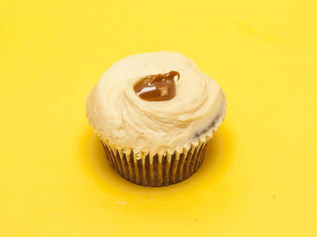 London's best cupcakes, Hummingbird Bakery, salted caramel cupcake