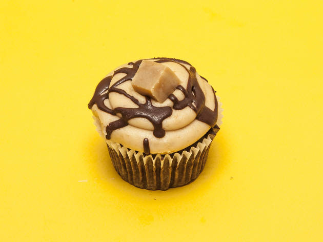 Peanut butter cupcake at Rubys of London
