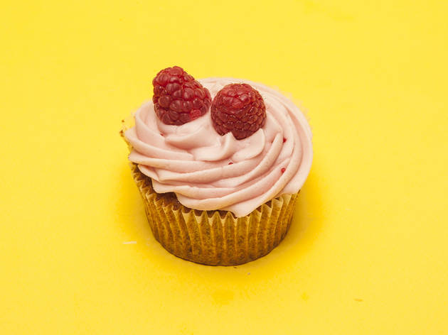 Raspberry cupcake at Bake-a-boo