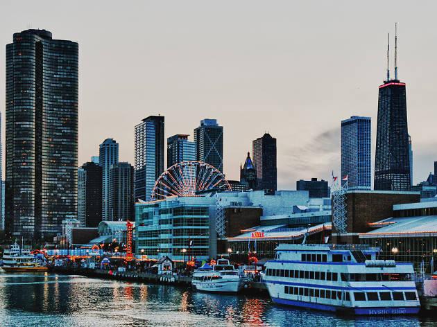navy pier skyline