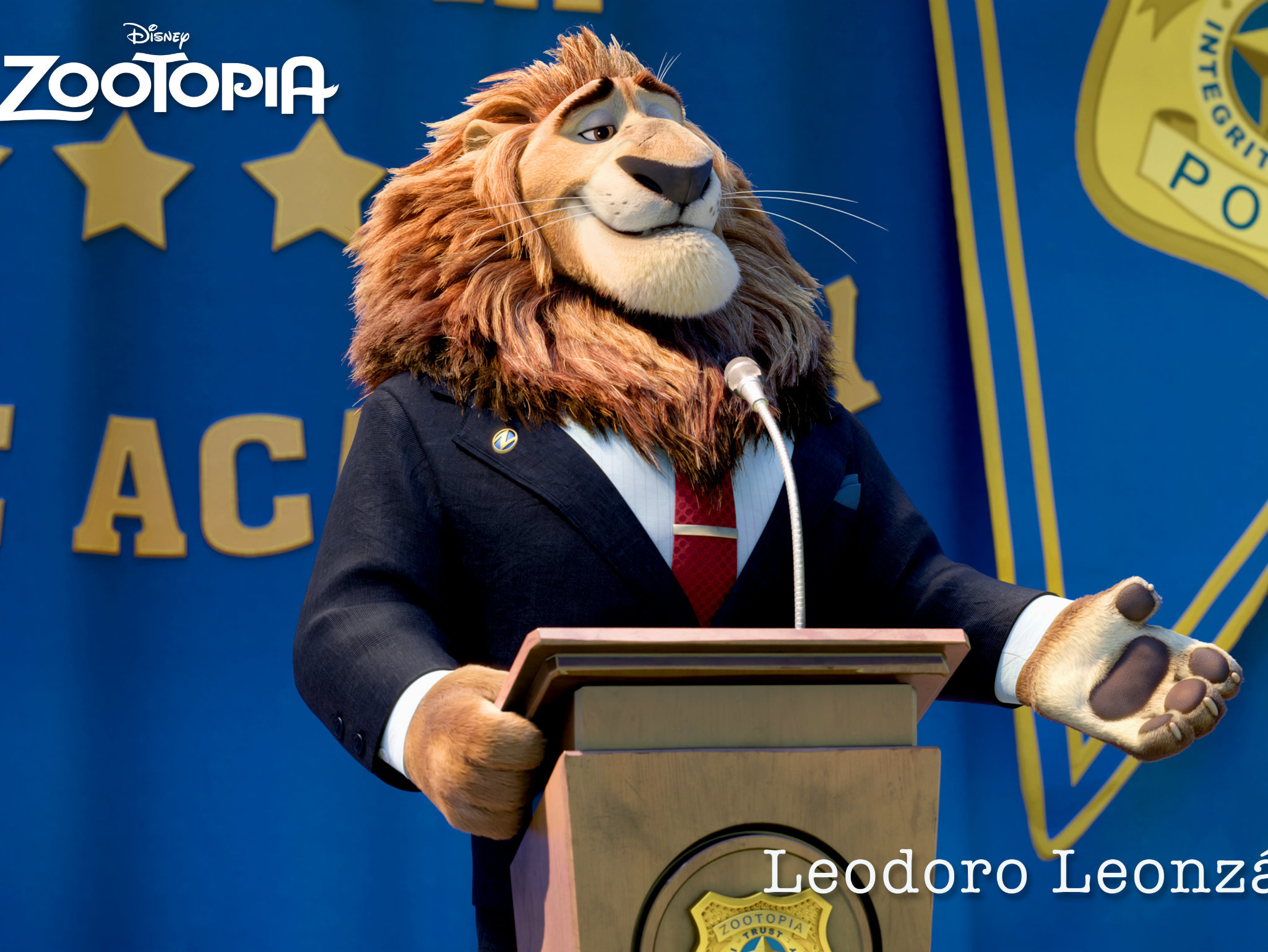 Los personajes de Zootopi
