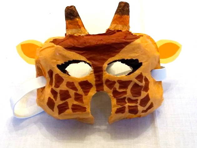 Tuto facile – Un masque de girafe pour Mardi Gras