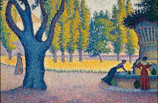 Paul Signac, Saint-Tropez. Fontaine des Lices, 1895, Collection privée