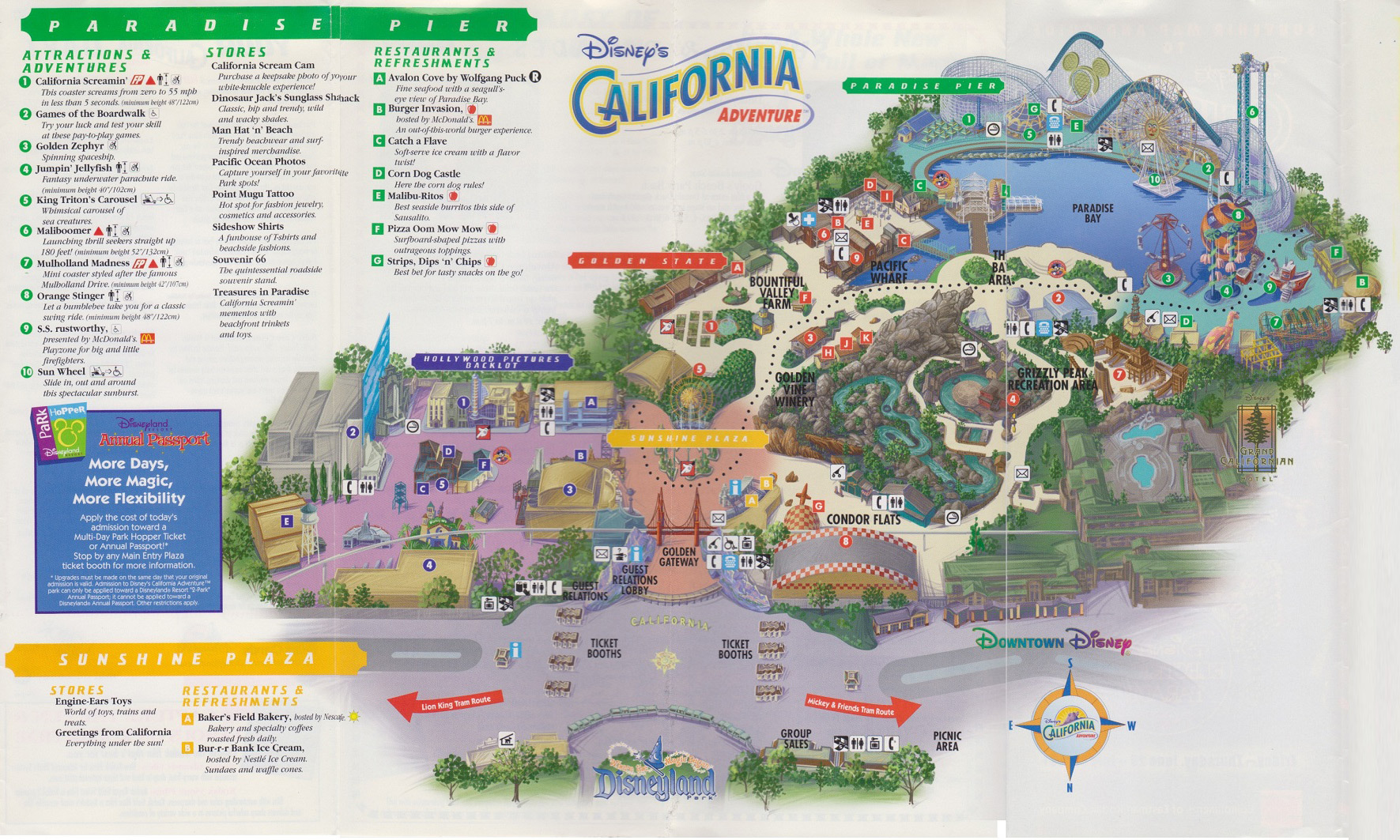 Disney Los Angeles Map.Here S A Reminder Of What Disney California Adventure Looked Like