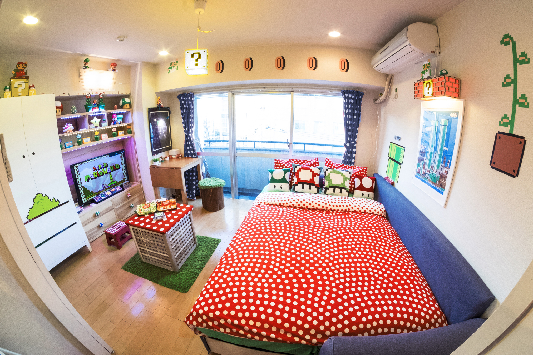From The Bedroom To The Bathroom, This Apartment Is Covered In Detailed  Mario Decor. Ideal For Tokyo Visitors Who Like The Idea Of A Cute Novelty  Apartment ...