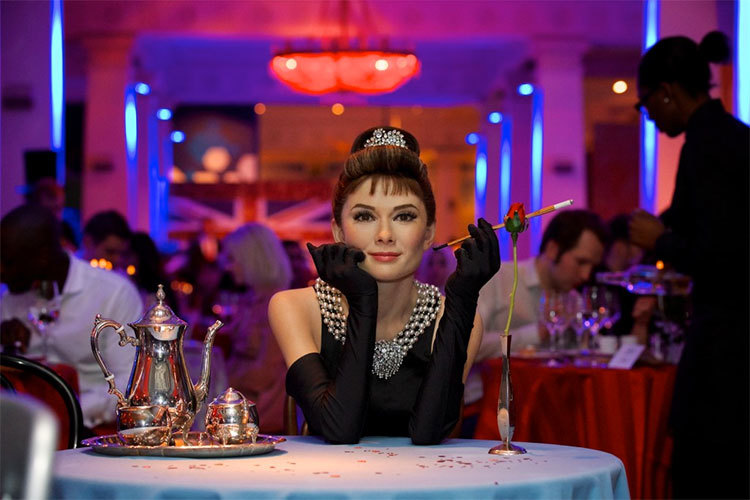 29% off a three-course meal for two at Madame Tussauds on February 13