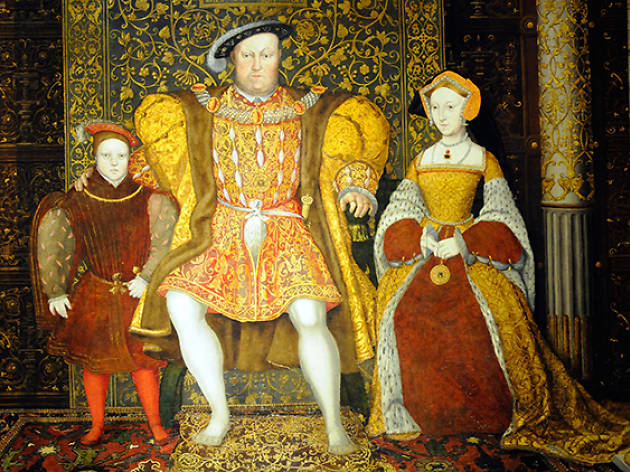 Painting Henry VIII with Prince Edward and Jane Seymour (unknown artist)