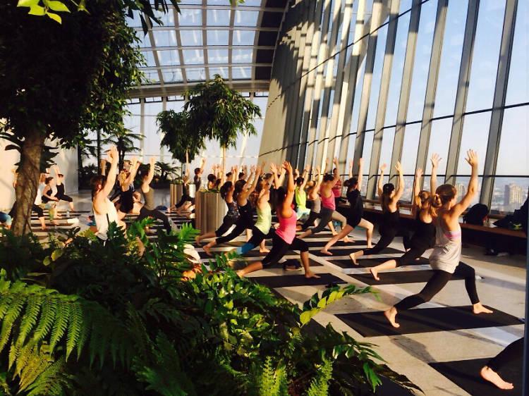 Sunrise Yoga, Sky Garden