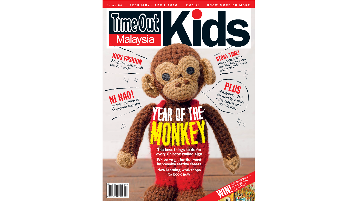 In the latest issue of Time Out Malaysia Kids: Celebrate the Year of the Monkey