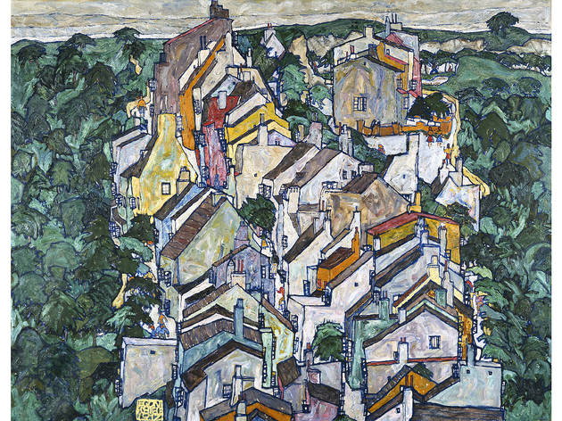 Egon Schiele, Town Among Greenery (The Old City III), 1917. Oil on canvas.