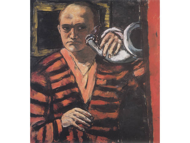Max Beckmann Self-Portrait with Horn, 1938. Oil on canvas.