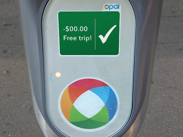 An Opal card reader