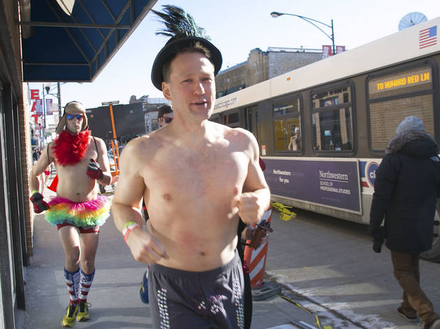 Cupid's Undie Run sent pantless participants through the streets of Wrigleyville, February 13, 2016.