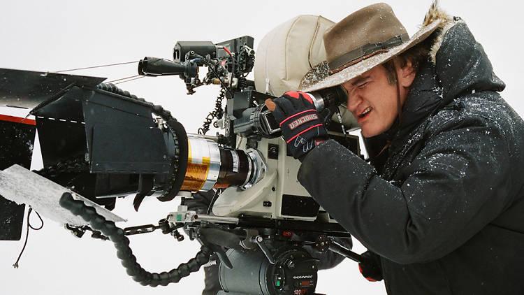 Quentin Tarantino on location filming