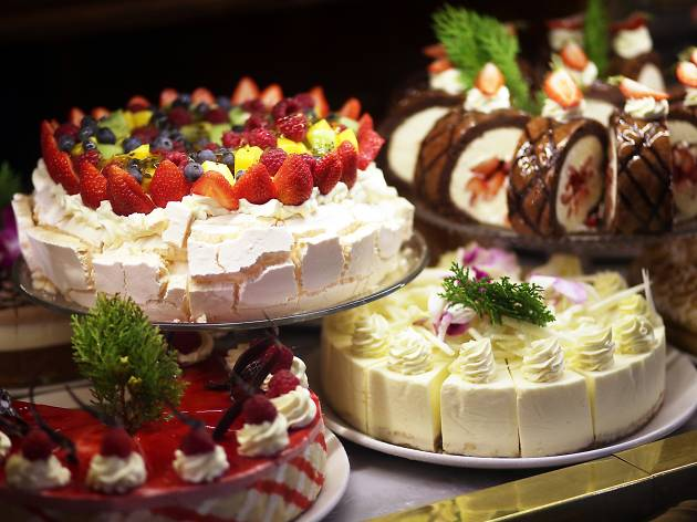A selection of cakes at the Hopetoun Tea Rooms in Melbourne