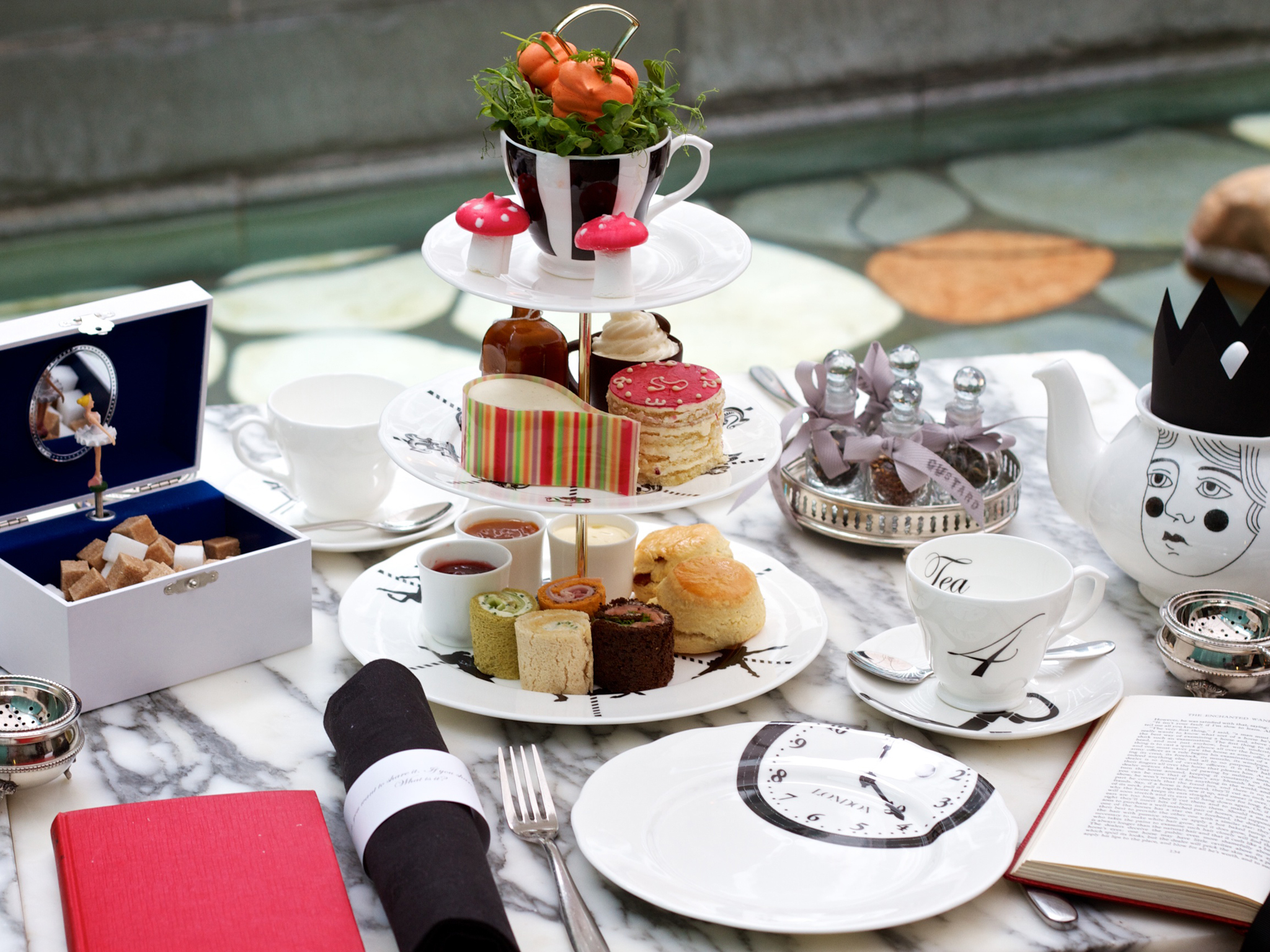 Mad Hatters Afternoon Tea at the Courtyard at the Sanderson
