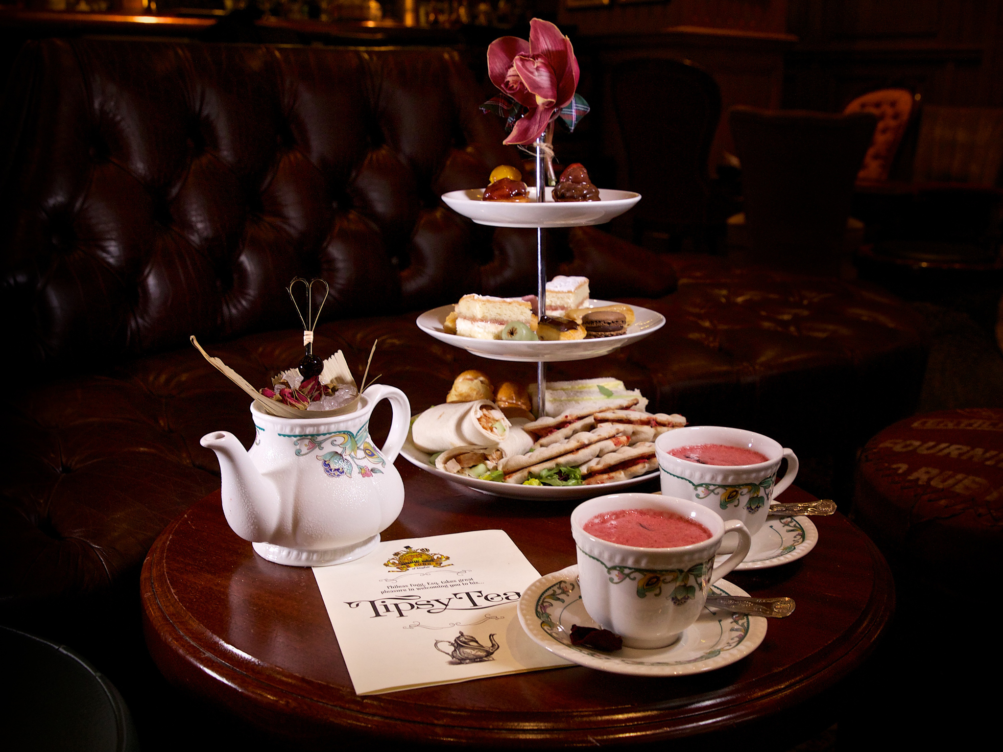 afternoon tea in london, mr fogg's, tipsy tea
