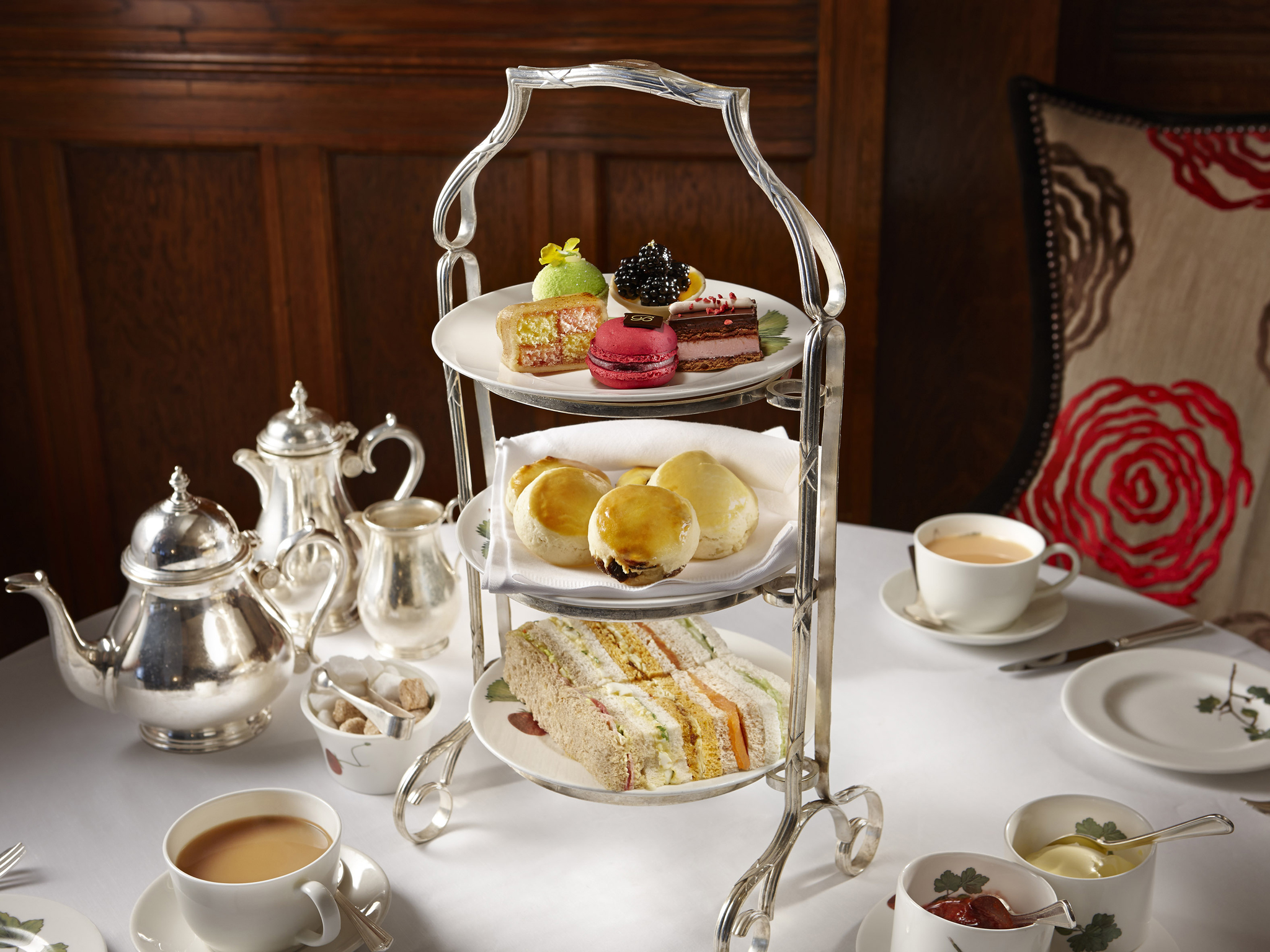 Afternoon tea at the English Tea Room, Brown's Hotel
