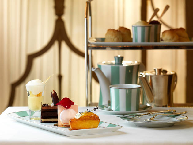 Afternoon tea at the Foyer and Reading Room, Claridge's