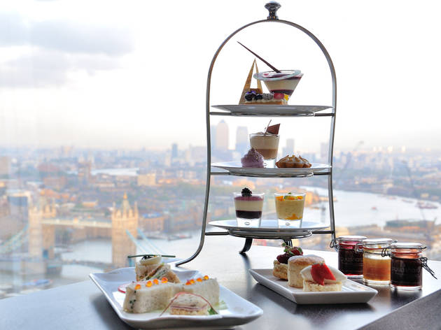 Afternoon tea in london, aqua at the shard