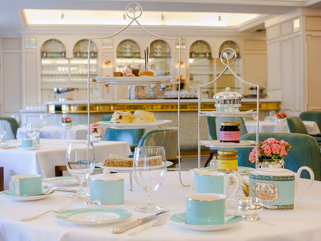 Afternoon tea at the Diamond Jubilee Tea Salon, Fortnum & Mason