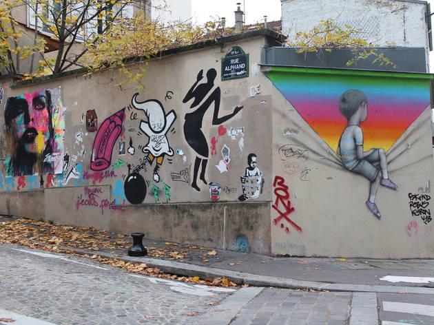 Parcours street art à la Butte-aux-Cailles