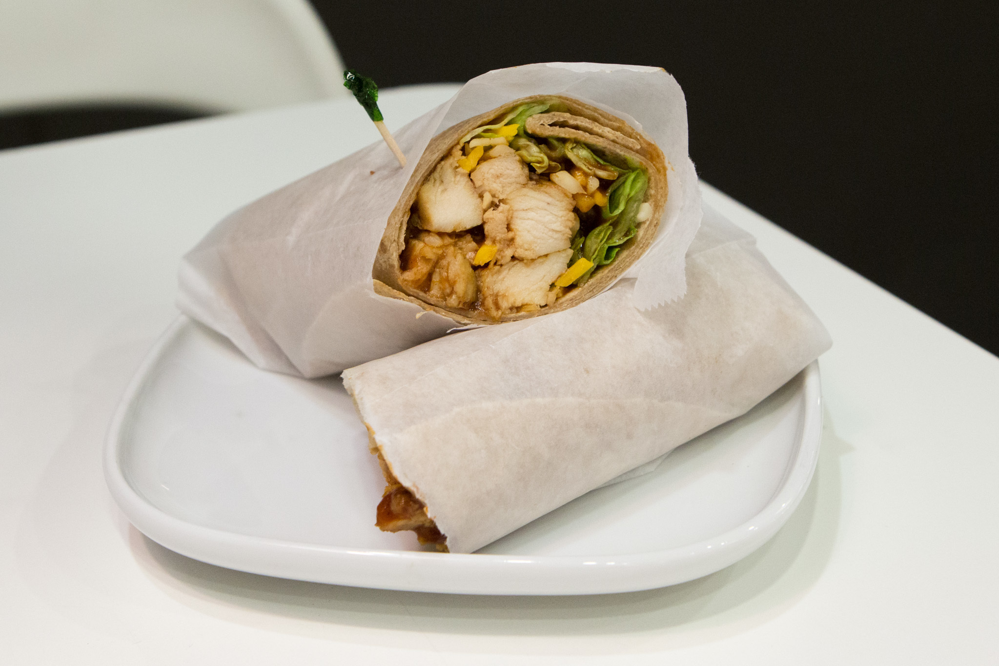 BBQ Chicken Wrap at IKEA Burbank