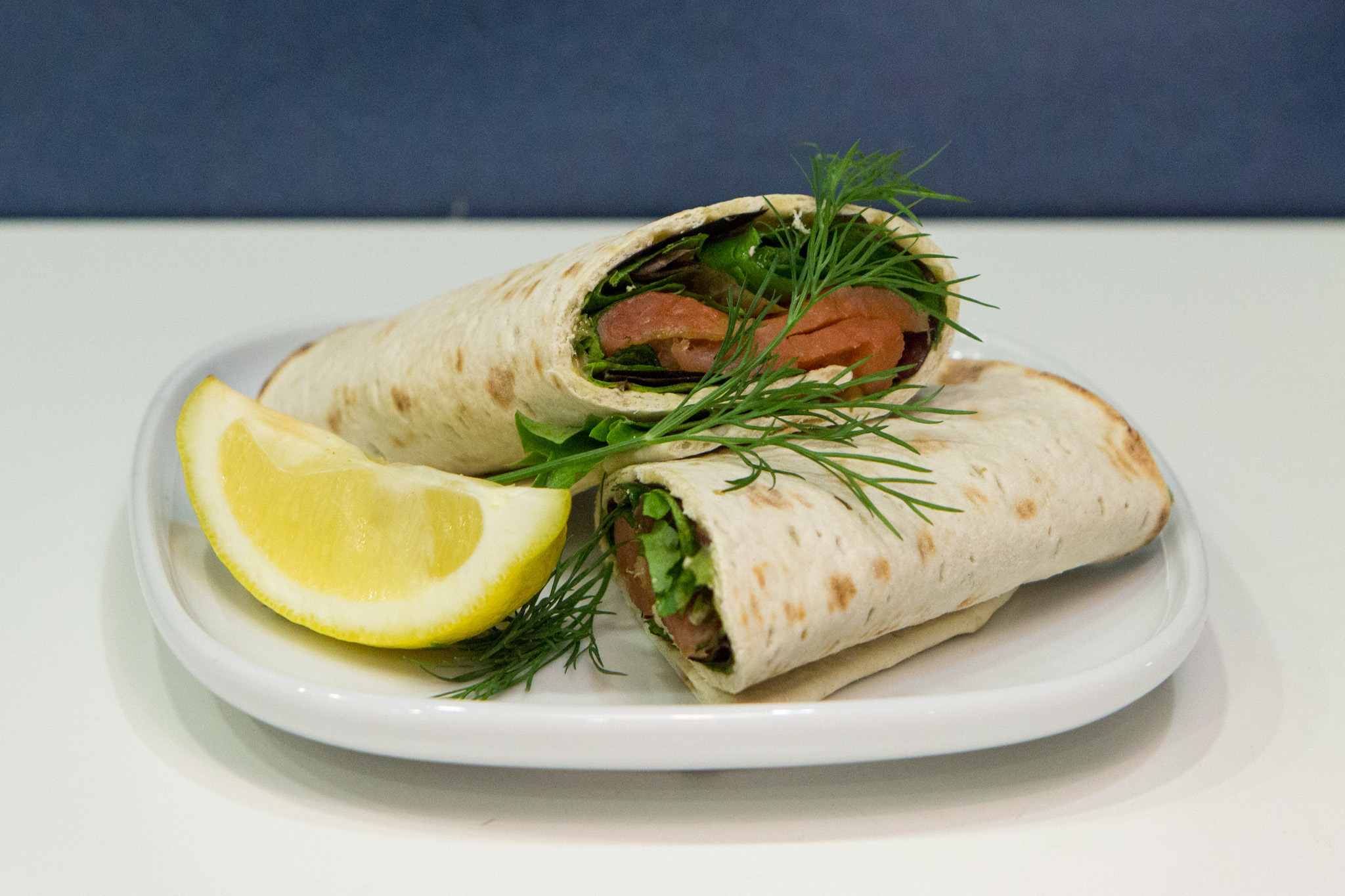 Marinated salmon wrap at IKEA Burbank
