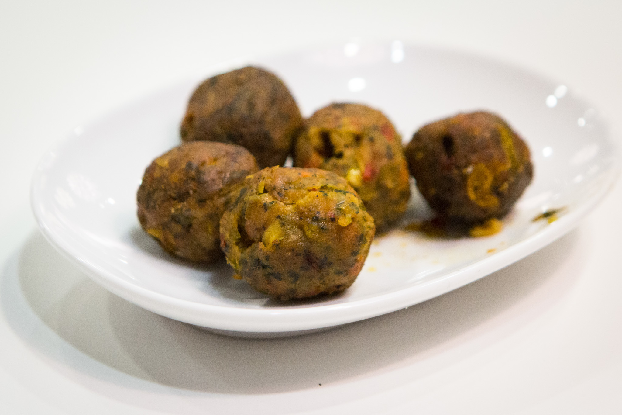 Veggie balls at IKEA Burbank