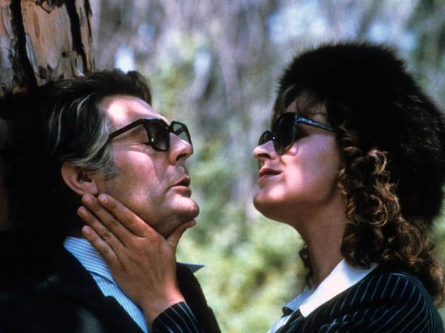 Marcello Mastroianni and Bernice Stegers in Federico Fellini's