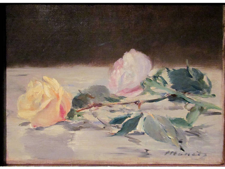 Édouard Manet, Two Roses on a Tablecloth, 1882-83