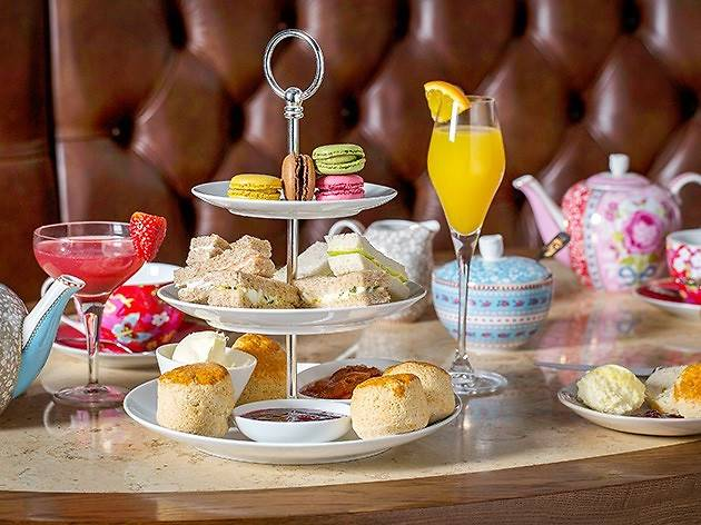 A sparkling afternoon tea for two at Hush Brasserie