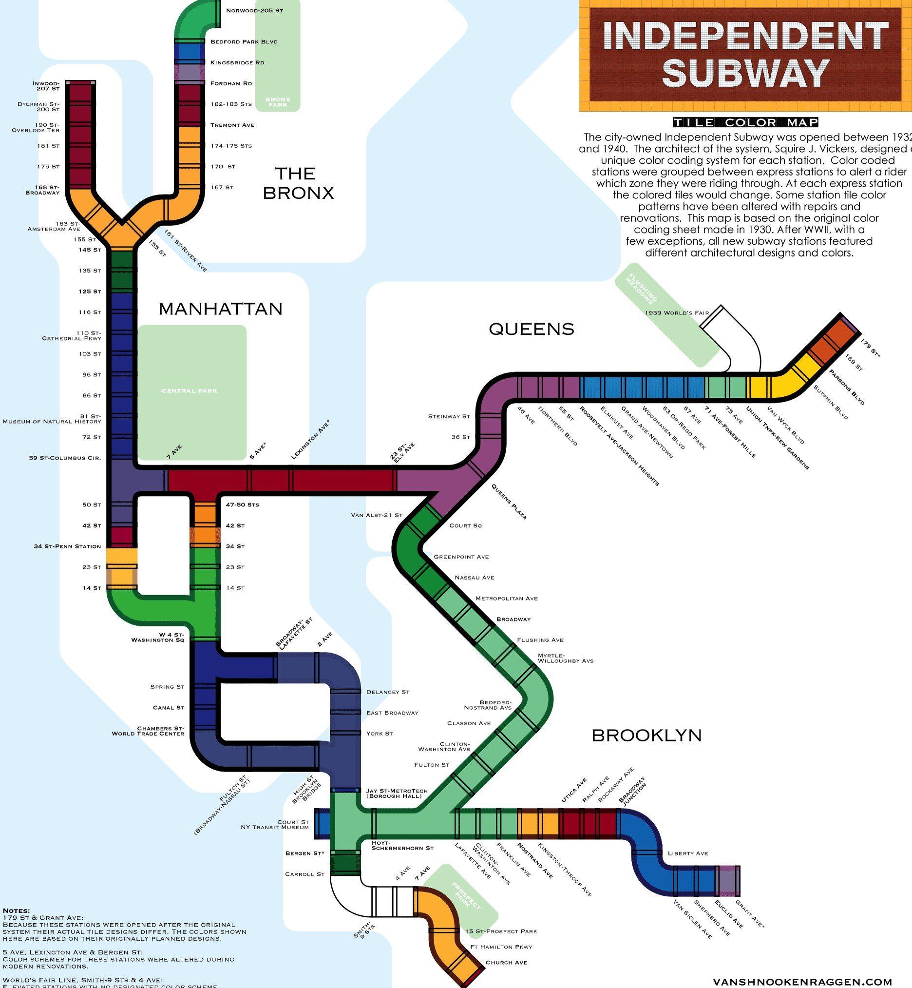 New York City Navigating Subway Map.The Hidden Meaning Behind The New York Subway S Colored Tiles