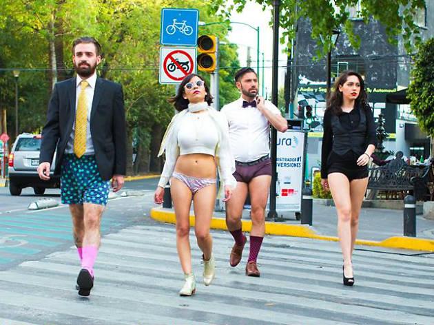 Paseo Sin Pantalones en el metro + MP3