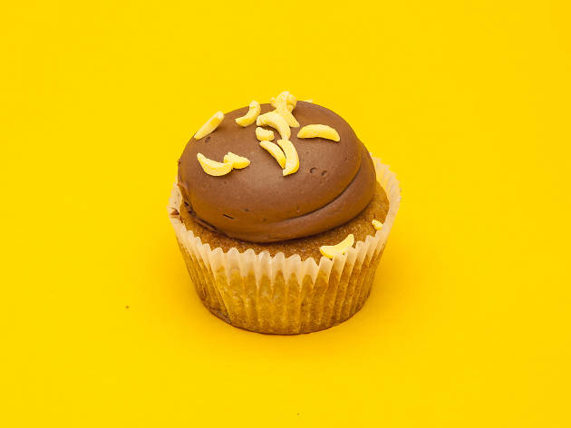 London's best cupcakes, Crumbs & Doilies, banana and chocolate cupcake