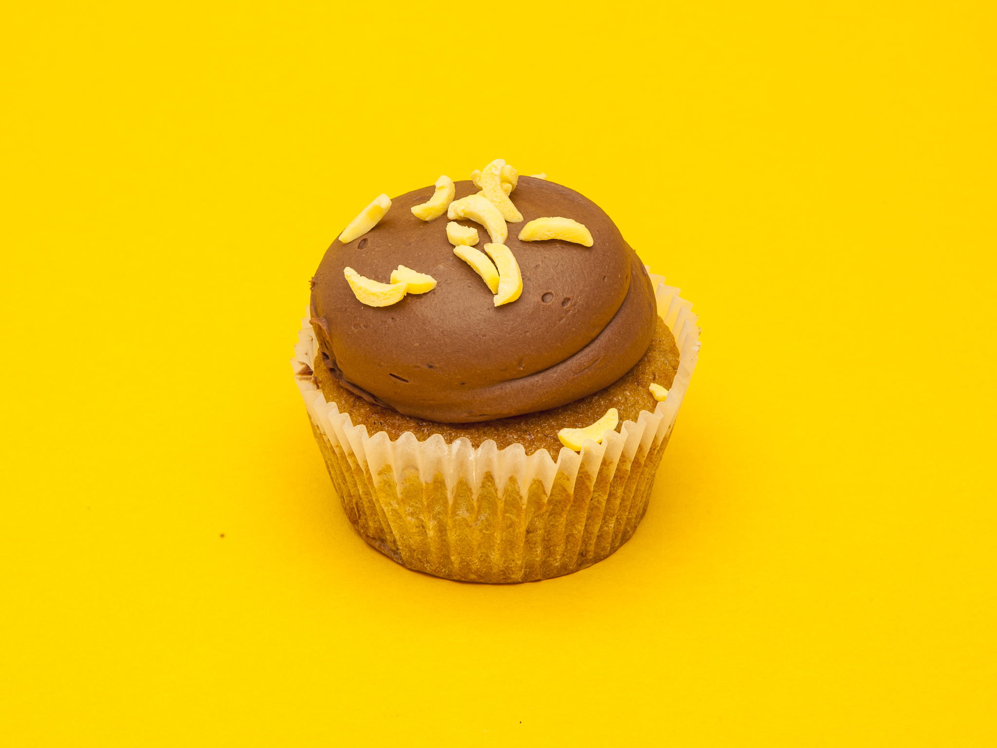 Banana & chocolate cupcake at Crumbs & Doilies