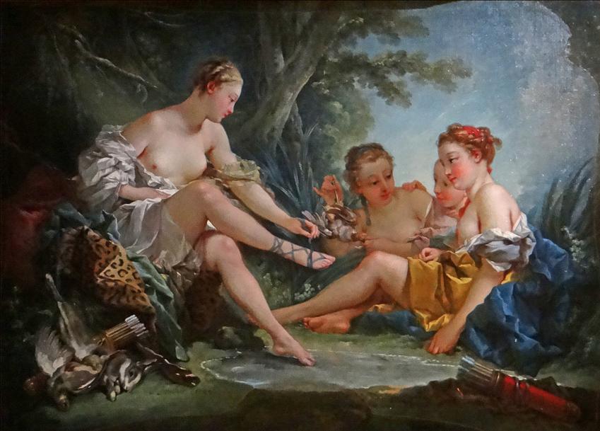 François Boucher • Le repos des Nymphes