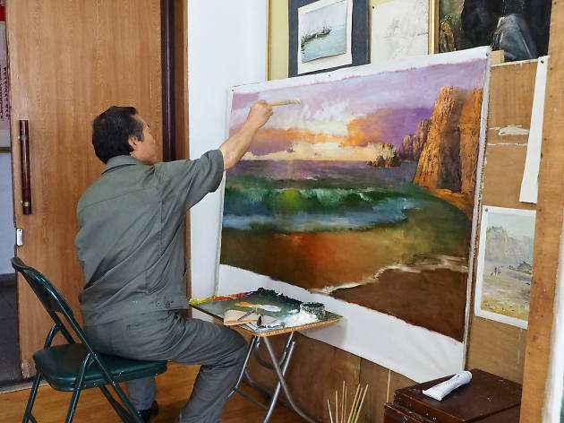You can check out North Korean art… in Cambodia.