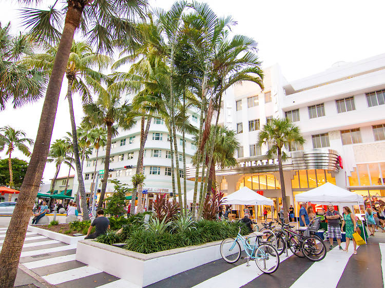 Shop and people watch down Lincoln Road
