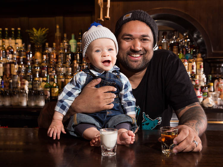 Pasan Wijesena, 36, and Ellis, 8 months
