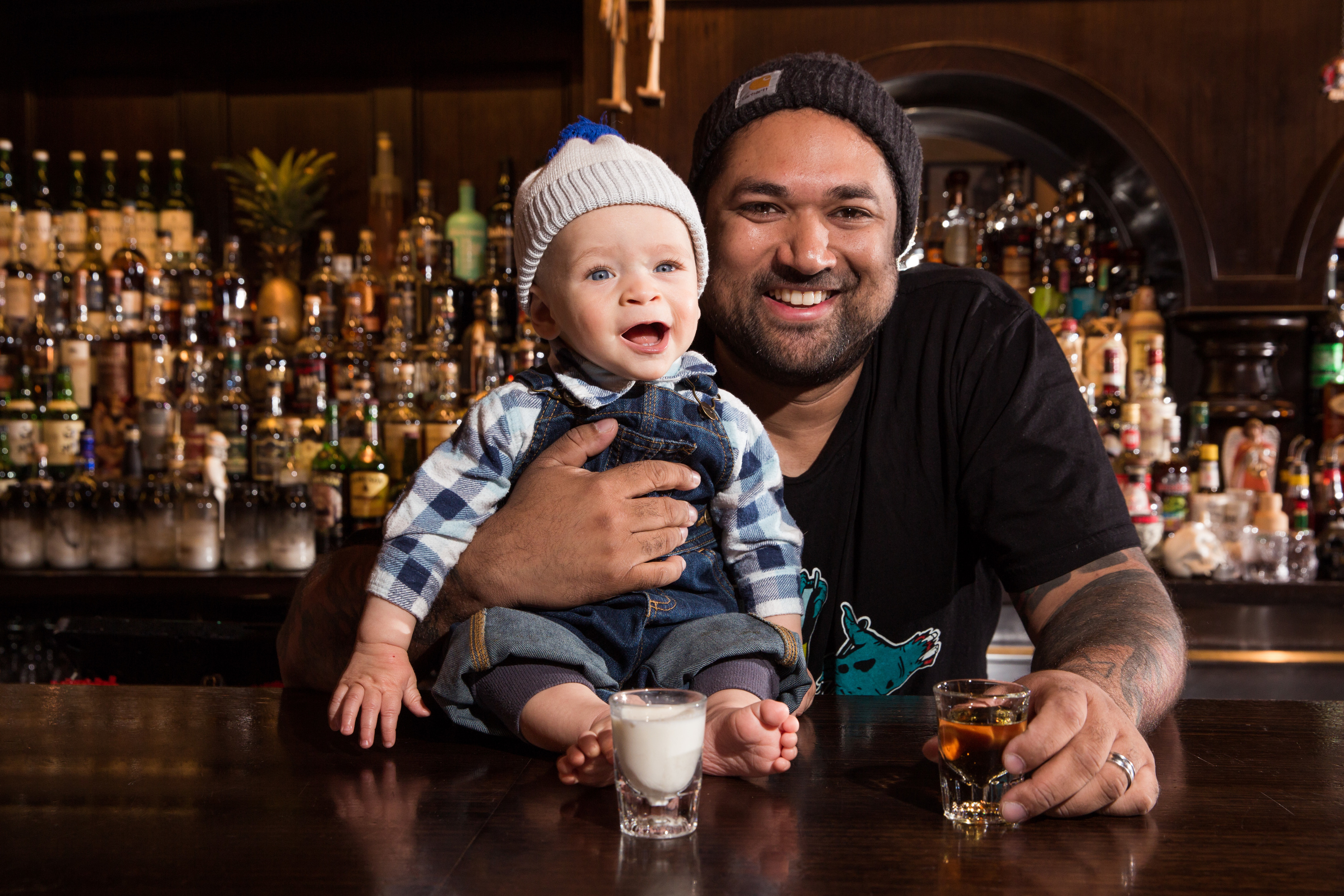 Pasan and his son Ellis at Earl's Juke Joint