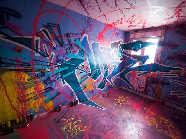 Street art maison