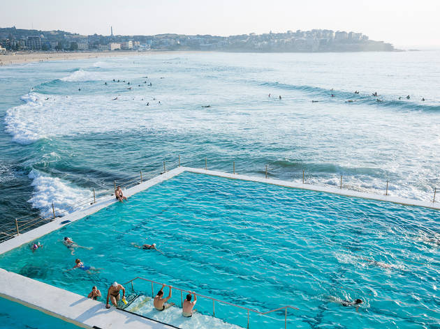 Icebergs Pool with Bondi Beach in the backgroud