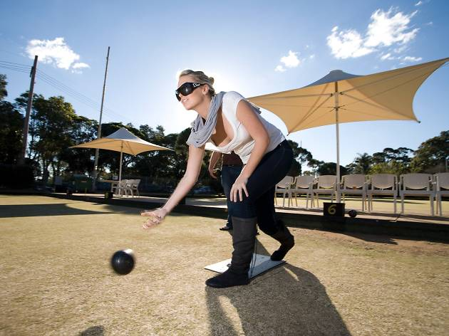 Woman at Paddington Bowling Club